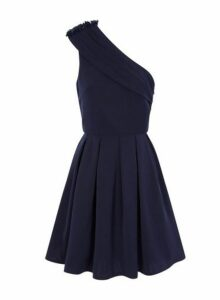 Womens *Chi Chi London Asymmetric Skater Dress- Navy, Navy