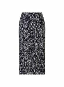 Womens **Black Belted Pencil Skirt- Black, Black