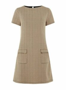 Womens **Tall Camel Geometric Print Shift Dress- Cream, Cream