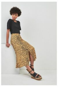 Womens Whistles Animal Print Midi Skirt -  Cream