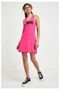 Womens Diesel Pink Logo Dress -  Pink