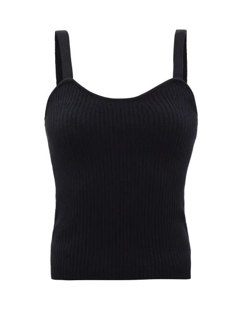Harris Wharf London - Collarless Single Breasted Pressed Wool Coat - Womens - Dark Green