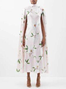 Redvalentino - Cap Sleeve Broderie Anglaise Cotton Midi Dress - Womens - White