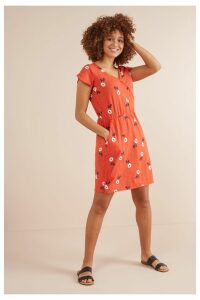 Womens Next Red Floral Wrap Dress -  Red
