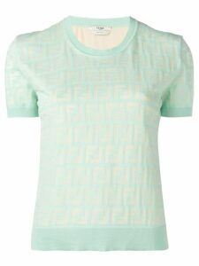 Fendi FF jersey top - Green