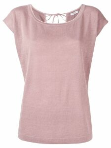 Peserico back tie knitted top - Pink