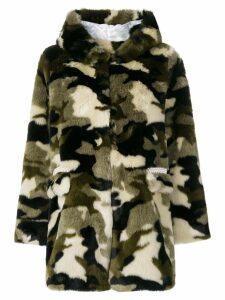 Shrimps camouflage faux fur coat - Green