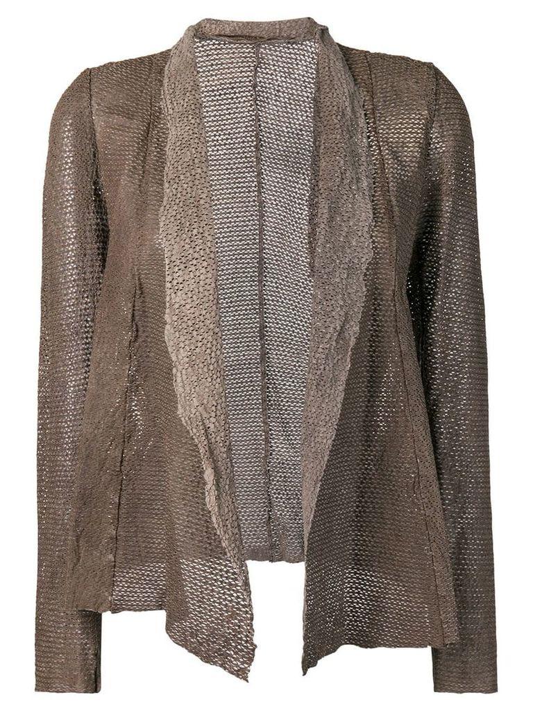 Salvatore Santoro draped leather jacket - Brown