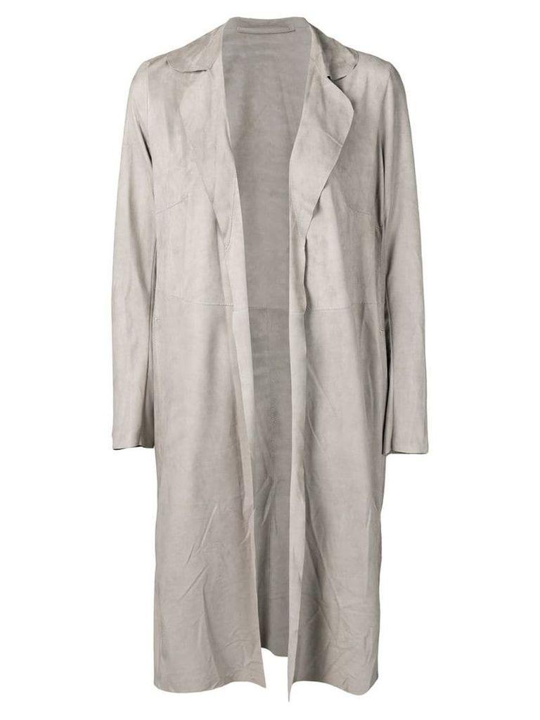 Salvatore Santoro open front coat - Grey