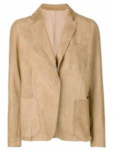 Salvatore Santoro suede lined blazer - Neutrals