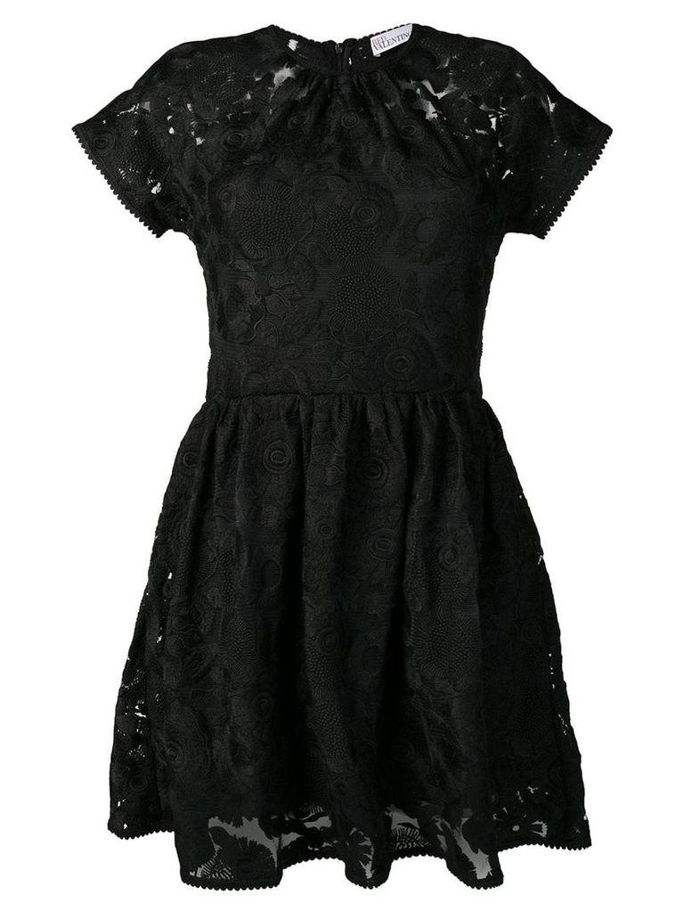 Red Valentino macrame mini dress - Black