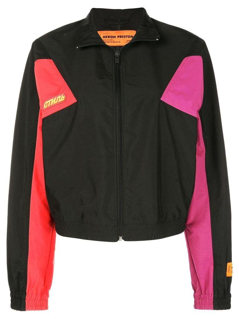 Heron Preston colour block zipped jacket - Black
