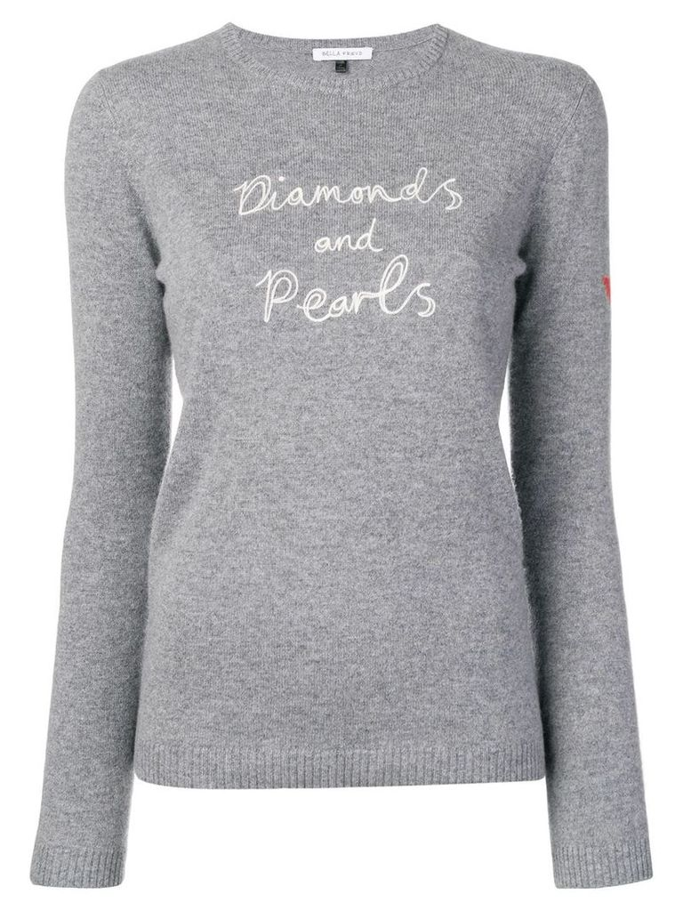 Bella Freud diamonds and pearls sweater - Grey