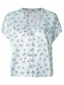 Morgan Lane Joanie printed pyjama top - Blue