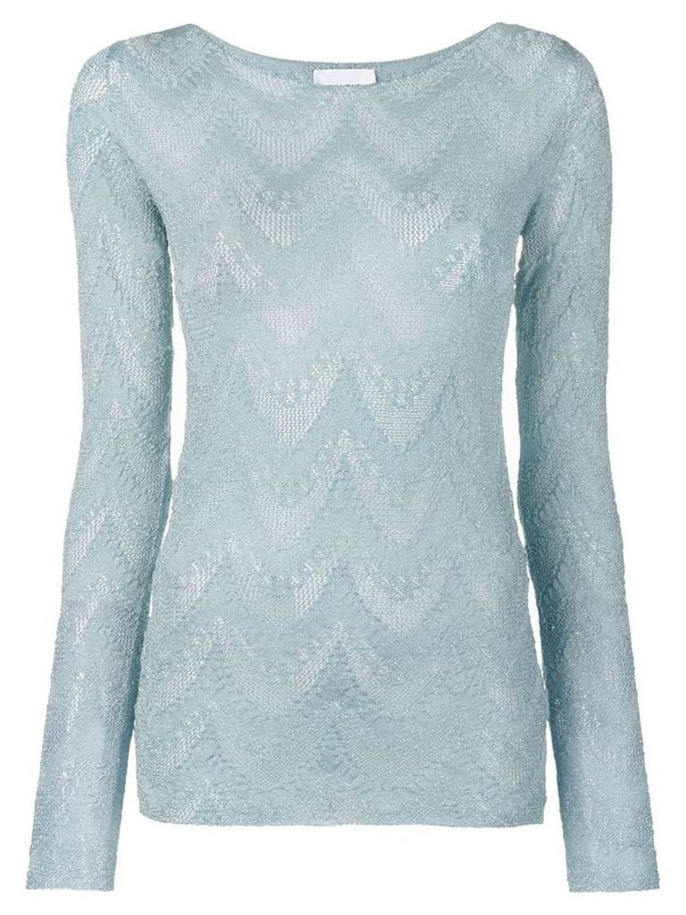 Dondup knitted long sleeve top - Blue