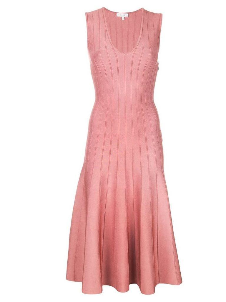 Casasola flared midi dress - Pink
