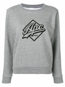 A.P.C. Kimberley logo print sweater - Grey