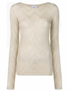 Dondup long sleeve knitted top - Neutrals