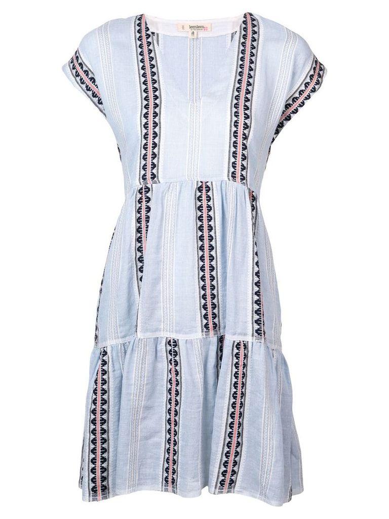 Lemlem Riban short dress - Blue