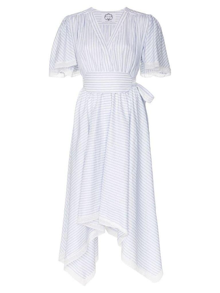 Evi Grintela Romy pinstripe cotton midi-dress - White