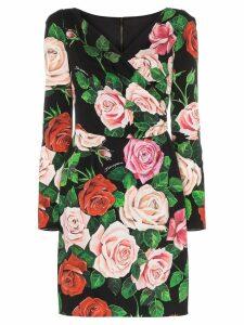 Dolce & Gabbana floral print wrap dress - HNX46 MULTICOLOURED