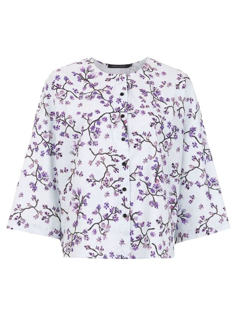 Andrea Marques printed blouse - White