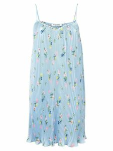 Vivetta floral print pleated dress - Blue