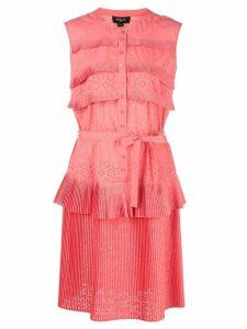 Paule Ka micro-pleated dress - Pink