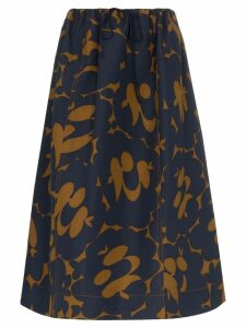 Marni drawstring waist floral print skirt - Blue