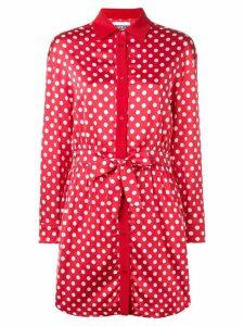 Moschino polka dots shirt dress - Red