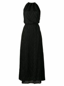 M Missoni zigzag knit halterneck maxi dress - Black
