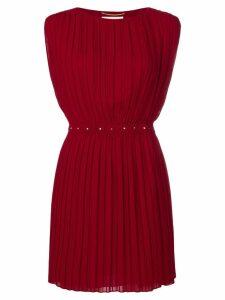 Saint Laurent short pleated dress - Red