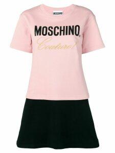 Moschino logo T-shirt dress - PINK