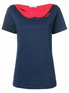 Vivetta lips shaped neck T-shirt - Blue