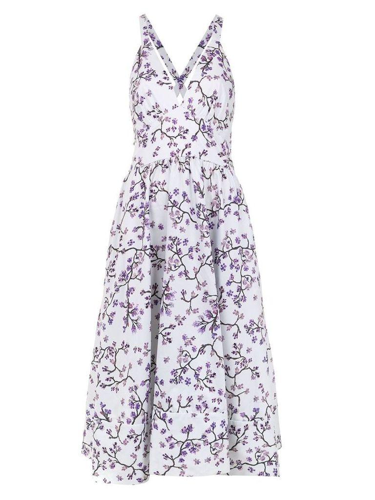 Andrea Marques printed midi dress - White