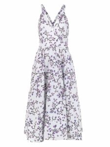 Andrea Marques printed midi dress - White