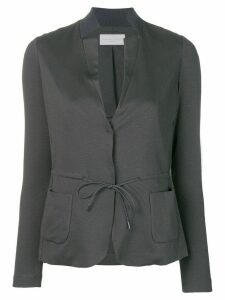 Fabiana Filippi inverted lapels blazer - Grey