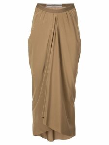 Rick Owens Babel kite skirt - Brown