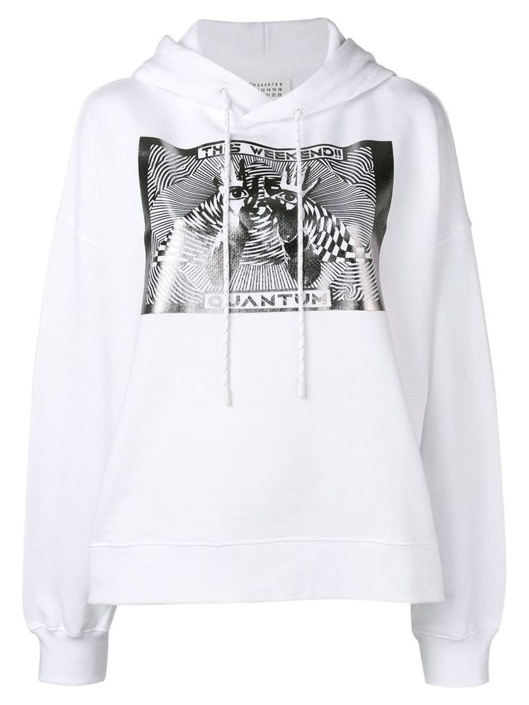 Maison Margiela This Weekend Quantum hoodie - White