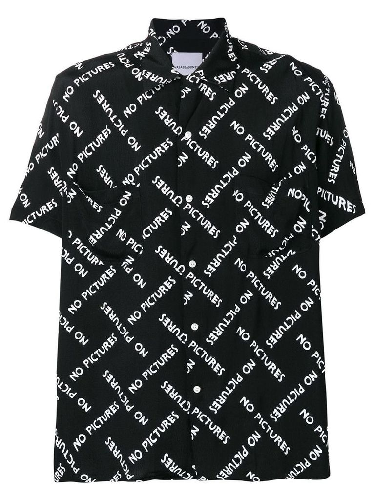 Nasaseasons No Pictures printed shirt - Black