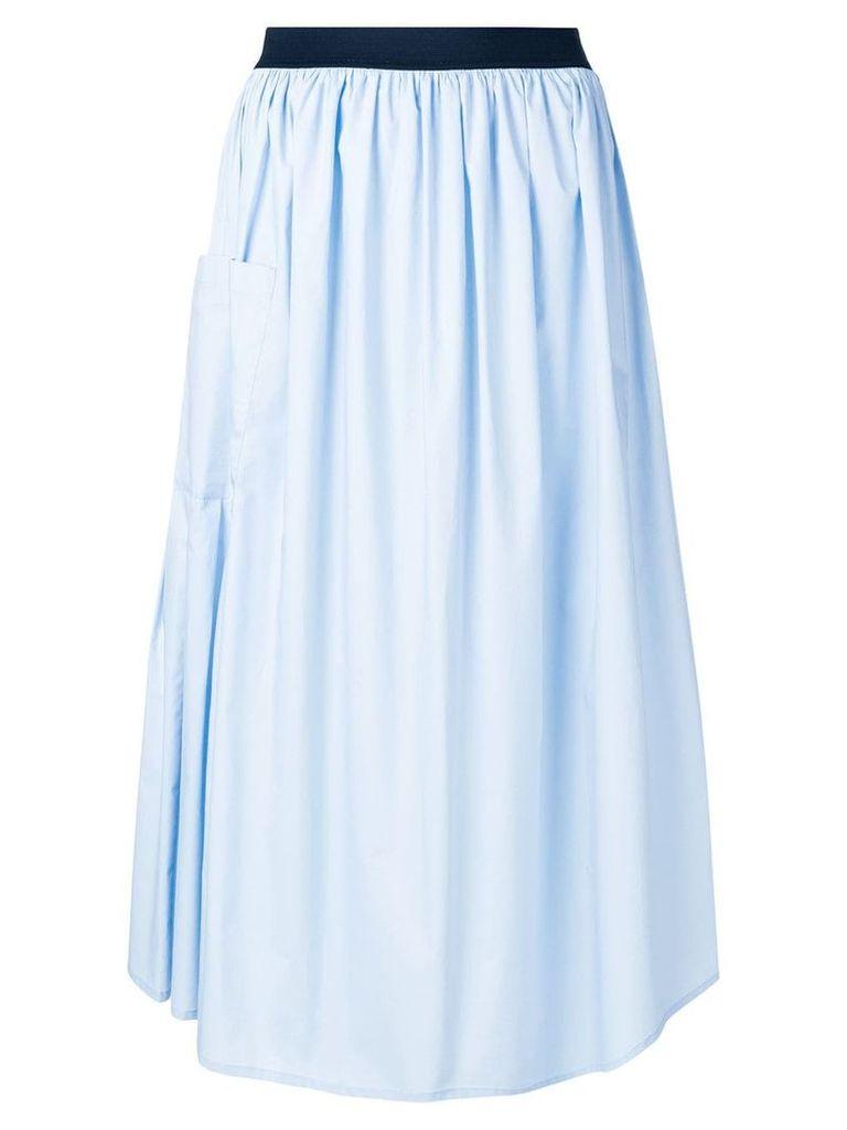 Roberto Collina gathered A-line skirt - Blue