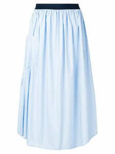 Roberto Collina gathered A-line skirt - Blue