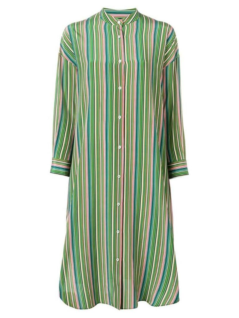 Aspesi striped midi dress - Green