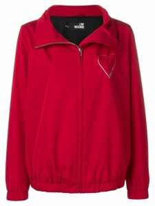 Love Moschino glitter heart raincoat - Red