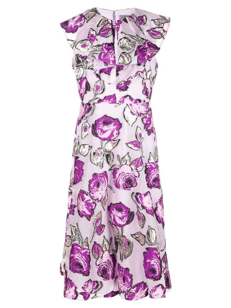 Lela Rose floral print dress - Purple