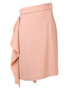 Maison Flaneur ruffle panel midi skirt - Pink