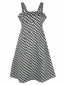 Alexa Chung gingham print dress - Black