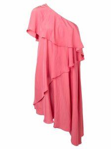 Lanvin ruffled one-shoulder dress - Pink