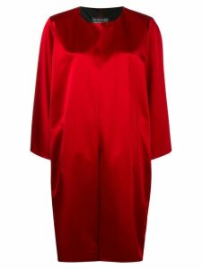 Gianluca Capannolo collarless mid-length coat - Red