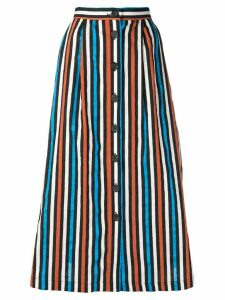 Isa Arfen striped flared skirt - Blue